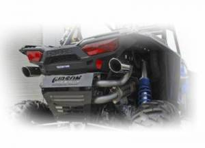 Gibson Performance - Gibson UTV Exhaust, Polaris (2016-18) RZR XP Turbo, Dual Exhaust, Stainless - Image 2