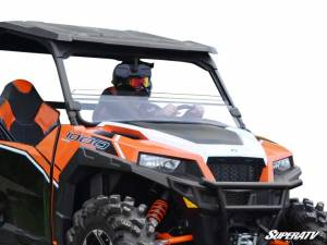 UTV Windshield - Half Windshields - SuperATV - Polaris General Half Windshield (Scratch Resistant Polycarbonate) - Clear