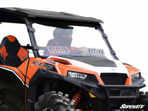 UTV Windshield - Full/ Vented Windshields - SuperATV - Polaris General & General 4 Scratch Resistant Vented Full Windshield