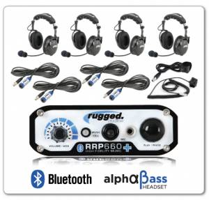 Electronic Accessories - VHF/UHF Radios - Rugged Radios - Rugged Radios 660Plus 4 Place Intercom System With Alpha Bass Headsets