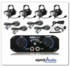 Electronic Accessories - VHF/UHF Radios - Rugged Radios - Rugged Radios RRP660 4 Place Intercom System With Behind The Head Ultimate Headsets