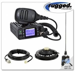 Rugged Radios - Rugged Radios ABM25 25-Watt Waterproof Dual Band Amateur Radio Kit