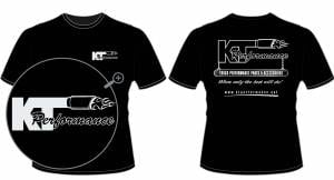 Apparel - KT Performance T-Shirts - KT Performance T-Shirt, Black (Small)