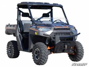 UTV Windshield - Half Windshields - SuperATV - Polaris Ranger XP 1000 Half Windshield, Scratch Resistant Polycarbonate - Clear