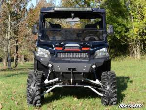 UTV Windshield - Half Windshields - SuperATV - Polaris Ranger 1000 Diesel/ Ranger 1000 Diesel Crew Half Windshield Half Windshield (Standard Polycarbonate) - Dark Tint