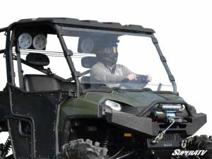 UTV Windshield - Full/ Vented Windshields - SuperATV - Polaris Ranger Full Size 500 Full Windshield (Standard Polycarbonate) Clear