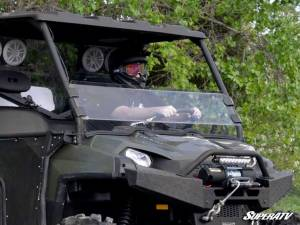 UTV Windshield - Half Windshields - SuperATV - Polaris Ranger Full Size 800 Half Windshield (Scratch Resistant Polycarbonate) Clear