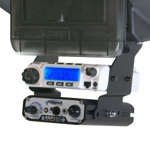 Rugged Radios - Rugged Radios Below Dash RM-60, RM-100, RM-50 or RM-45 and Intercom Mount for Polaris RZR XP1000