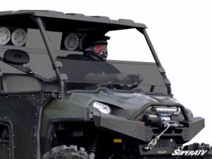 UTV Windshield - Half Windshields - SuperATV - Polaris Ranger Full Size 570 Half Windshield (Standard Polycarbonate) Dark Tint