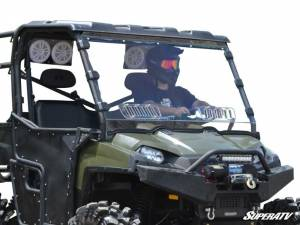 UTV Windshield - Full/ Vented Windshields - SuperATV - Polaris Ranger 900 Diesel Scratch Resistant Vented Full Windshield