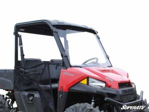 UTV Windshield - Full/ Vented Windshields - SuperATV - Polaris Ranger Midsize Full Windshield (2015+) Standard Polycarbonate- Clear