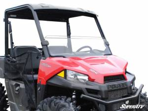 UTV Windshield - Half Windshields - SuperATV - Polaris Ranger Midsize Scratch Resistant Half Windshield (2015+)