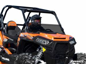 UTV Windshield - Half Windshields - SuperATV - Polaris RZR XP 1000 Half Windshield (2014-18) Stanadard Polycarbonate- Dark Tint