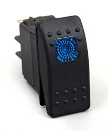 BTR Products - BTR R-Series Rocker Switch, Blue (On-Off)