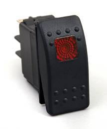 BTR Products - BTR R-Series Rocker Switch, Red (On-Off)
