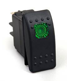 BTR Products - BTR R-Series Rocker Switch, Green (On-Off)