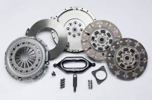 Holiday Super Savings Sale! - South Bend Clutch Sale Items - South Bend Clutch - South Bend Clutch Street Dual Disk Kit with Flywheel, Dodge (1999-04) 5.9L 2500-3500 NV5600, 550-750hp & 1400 ft lbs of torque