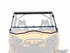 SuperATV - Can-Am Commander Flip Down Windshield (Scratch Resistant Polycarbonate) Clear