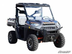 UTV Windshield - Full/ Vented Windshields - SuperATV - Polaris Ranger 1000 Full Windshield (Scratch Resistant Polycarbonate) Clear