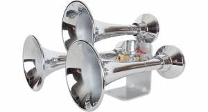Air Horns - Train Horns - HornBlasters - Outlaw 3 Chime Chrome, Train Horn