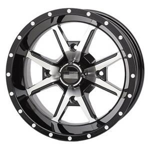 """UTV Tires/Wheels - Wheels - Frontline Tires - Frontline All Terrain 556, Machined Black, UTV Wheels - 14"""" wheels (4/137) 5+2 Offset, +10mm"""