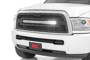 "Rough Country - Rough Country Mesh 30"" LED Lightbar Grille, Dodge (2013-18) 2500/3500"
