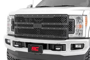 Rough Country - Rough Country Mesh Grille, Ford (2017-18) F-250/F-350