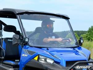 SuperATV - Polaris Ranger XP 1000 Scratch Resistant Flip Windshield Standard Cab (2017) - Image 3