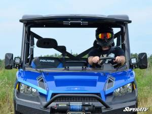 SuperATV - Polaris Ranger XP 1000 Scratch Resistant Flip Windshield Standard Cab (2017) - Image 2