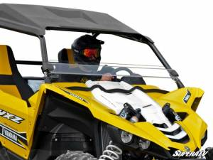 UTV Windshield - Half Windshields - SuperATV - Yamaha YXZ Half Windshield (Scratch Resistant Polycarbonate) Clear