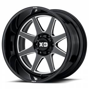 "8x170 Lug Wheels - 20 Inch Wheels - XD Series - XD Series 844, 8x170, 20"" x 12"", Gloss Black and Milled  (-44 Offset)"