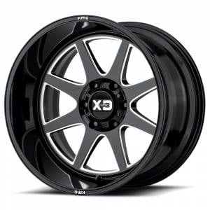 "8x170 Lug Wheels - 20 Inch Wheels - XD Series - XD Series 844, 8x180, 20"" x 12"", Gloss Black and Milled  (-44 Offset)"