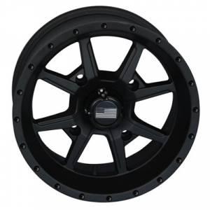 """UTV Tires/Wheels - Wheels - Frontline Tires - Frontline All Terrain 556, Stealth Flat  Black, UTV Wheels - 14"""" wheels, (4/110) 5+2 Offset, +10mm"""
