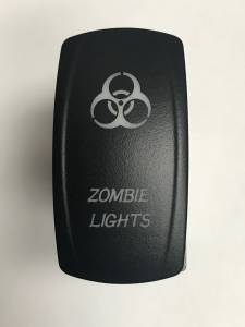Electronic Accessories - Switches - BTR Products - BTR C-Series Rocker Switch, Zombie Lights (On-Off) Blue