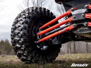 UTV/ATV - UTV Radius Arms - SuperATV - Can-Am Maverick X3, 64 inch, Tubed Radius Arms Complete Kit (Red)