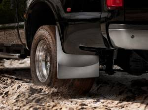Exterior Accessories - Mud Flaps - Weather Tech - Weather Tech Mud Flaps, Ford (2008-10) Super Duty, Rear (Dually) Black