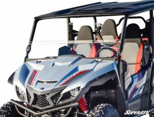 UTV Windshield - Half Windshields - SuperATV - Yamaha Wolverine X4 Half Windshield (Standard Polycarbonate) Clear