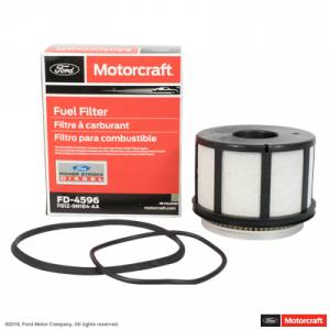 Fuel Pump Systems - Replacement Fuel Filters - Ford Genuine Parts - Ford Motorcraft Fuel Filter, Ford (1999-03) 7.3L Power Stroke (FD-4596)