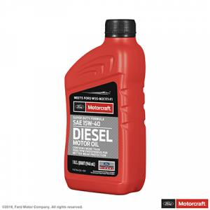 Ford Genuine Parts - Ford Motorcraft Oil SAE 15W-40, Super Duty Diesel Motor Oil (1 Quart Bottle)