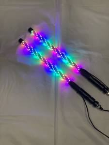 Lighting - Whip Lights - BTR Products - BTR Whip Lights, Twisted Multicolor 2' Whip Pair w/ Remote