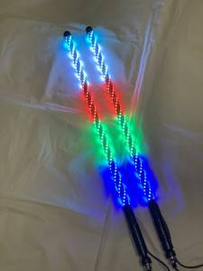 Lighting - Whip Lights - BTR Products - BTR Whip Lights, Twisted Multicolor 3' Whip Pair w/ Remote