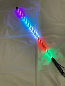 Lighting - Whip Lights - BTR Products - BTR Whip Lights, Twisted Multicolor 3' Whip Single w/ Remote
