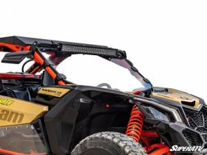 UTV Windshield - Full/ Vented Windshields - SuperATV - Can-Am Maverick X3 Full Windshield, Scratch Resistant Polycarbonate -Clear, (Without Intrusion Bar)