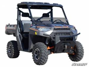 UTV Windshield - Half Windshields - SuperATV - Polaris Ranger XP 570 Half Windshield, Standard Polycarbonate- Dark Tint