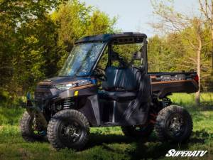 SuperATV - Polaris Ranger XP 1000 Crew, NorthStar Edition, Scratch Resistant Flip Windshield Standard Cab (2019-2020) - Image 3