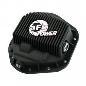 aFe - aFe Front Differential Cover, Ford Diesel Trucks (1994.5-12) 7.3L/6.0L/6.4L/6.7L, Black Fins