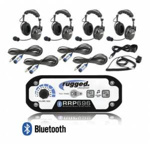 Electronic Accessories - VHF/UHF Radios - Rugged Radios - Rugged Radios RRP696 4-Place Intercom with AlphaBass Headsets