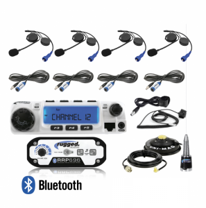 Electronic Accessories - VHF/UHF Radios - Rugged Radios - Rugged Radios RRP696 4-Place Intercom with 60 Watt Radio and Alpha Audio Helmet Kits