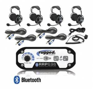 Electronic Accessories - VHF/UHF Radios - Rugged Radios - Rugged Radios RRP696 4-Place Intercom with Over the Head Ultimate Headsets