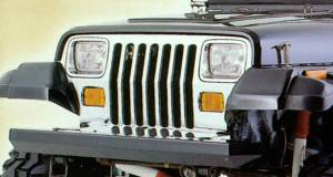 Lighting - Lighting Accessories - Rugged Ridge - Rugged Ridge Stone Guard Set, Black (1987-95) Jeep Wrangler YJ